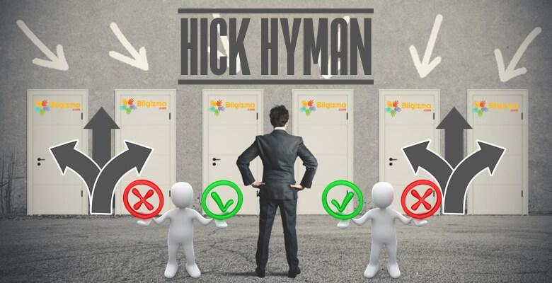 Hick-Hyman Kanunu Nedir? Ne İşe Yarar?